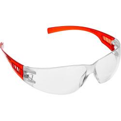 Прозрачные очки защитные открытого типа ЗУБР Мастер, пластиковые дужки / 110325
